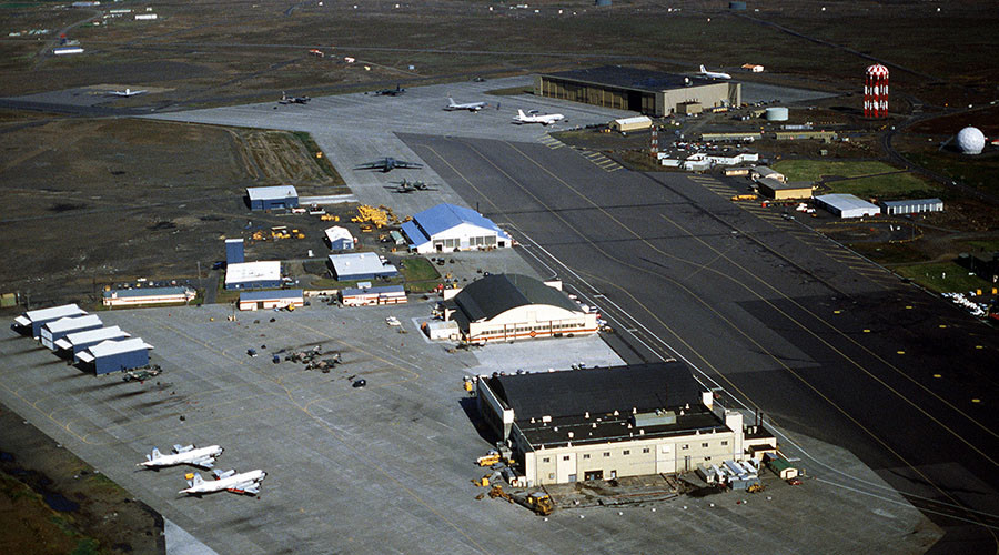 FILE PHOTO. A view of the U.S. Naval Air Station Keflavik. © Wikipedia