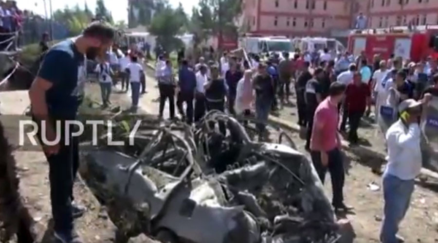 At least 10 killed, almost 300 wounded in string of blasts in eastern Turkey (PHOTOS, VIDEO)
