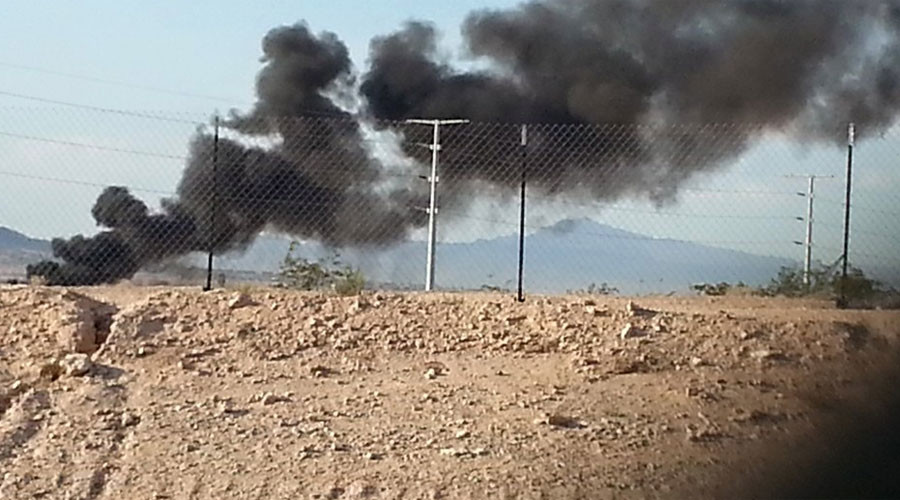 Military contractor jet crashes near Las Vegas after pilot ejects (VIDEO, PHOTOS)