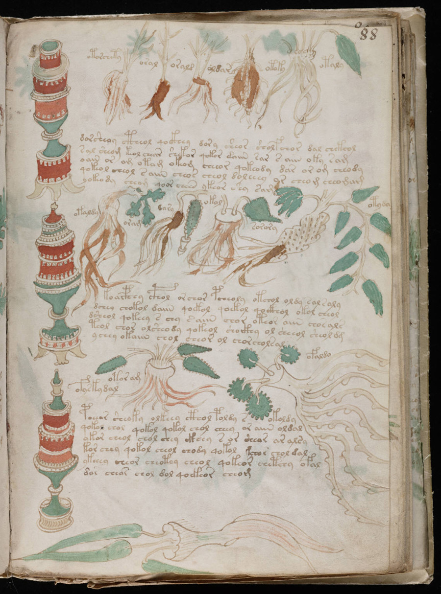 A page from the mysterious Voynich manuscript, which is undeciphered to this day. ©  Beinecke Rare Book & Manuscript Library, Yale University