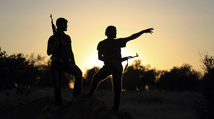 Free Syrian Army fighters. © Khalil Ashaw