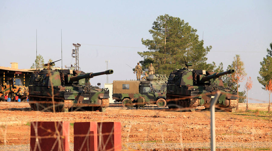Turkey shells ISIS & Kurdish positions in Syria