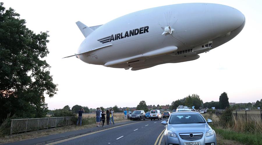 Huge 'Flying Bum' damaged after it 'nose dives' during test flight landing