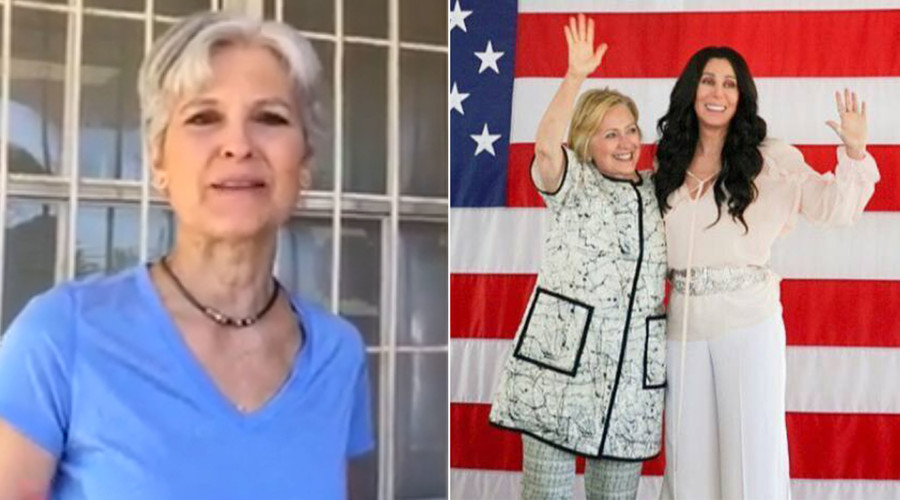 Hillary Clinton parties with Cher, while Jill Stein meets with flooding victims in Louisiana