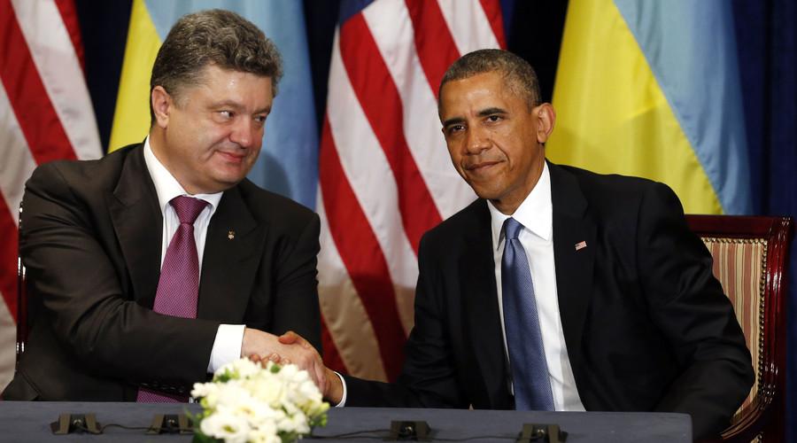 U.S. President Barack Obama meets with Ukraine President-elect Petro Poroshenko in Warsaw June 4, 2014. © Kevin Lamarque