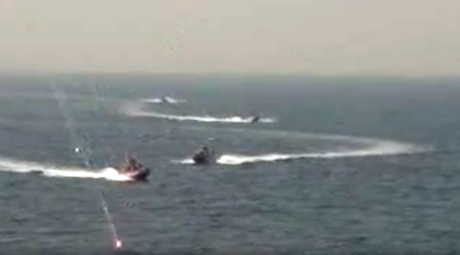 US warship 'harassed' by Iranian speedboats near Strait of Hormuz