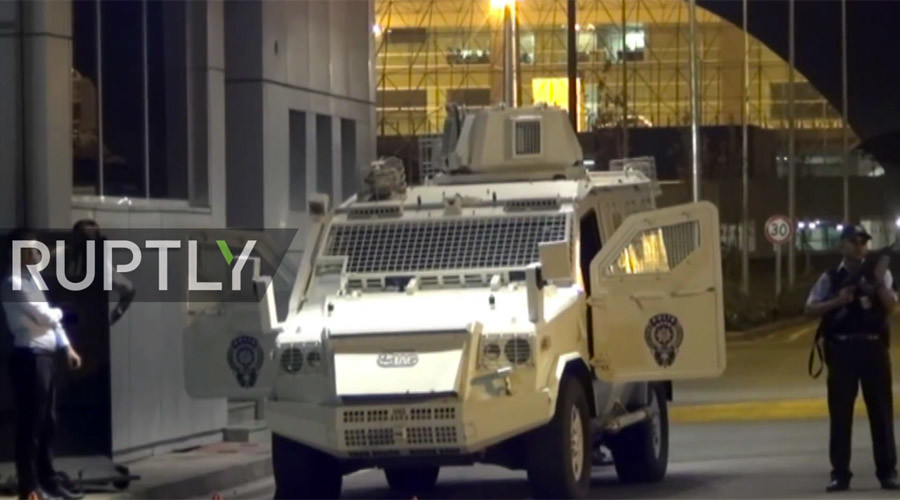 Rockets hit airport in Turkey's southeast (VIDEO)