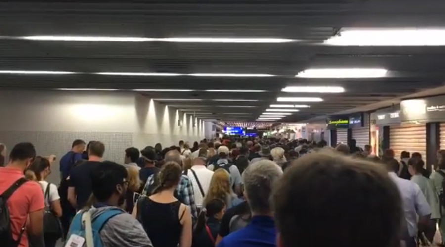 Passenger bypassing security check prompts partial evacuation of Frankfurt Airport