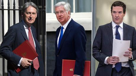 (L-R) Philip Hammond, Michael Fallon and George Osborne. ©Reuters