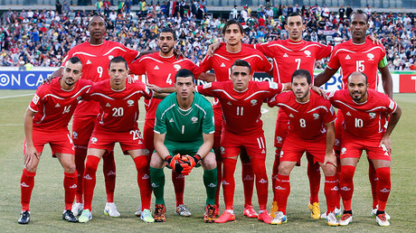 Palestine's players © Tim Wimborne