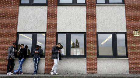 An accommodation centre for refugees in Namur, Belgium © Francois Lenoir