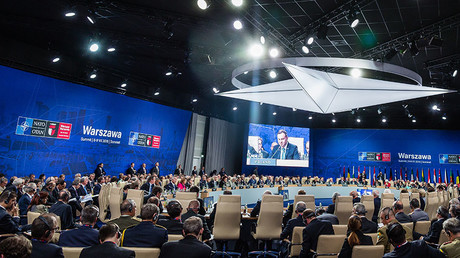General view of the meeting of heads of state of the North Atlantic Council (NAC) taking place during a NATO summit on July 8, 2016 in Warsaw, Poland. © Wojtek Radwanski
