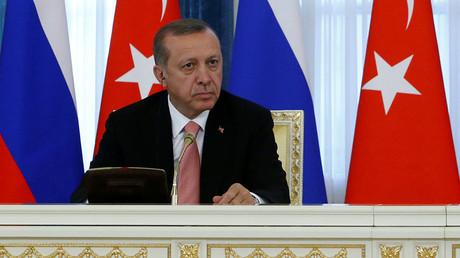 Turkish President Tayyip Erdogan, St. Petersburg, Russia, August 9, 2016. ©Sergei Karpukhin