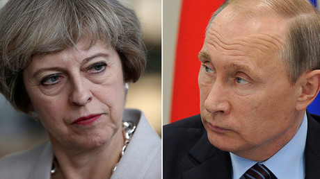 Britain's Prime Minister Theresa May and Russian President Vladimir Putin. © Reuters
