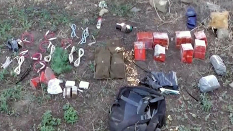 TNT blocks found during detention of Ukrainian saboteurs detained by the Russian Federal Security Service in Crimea. The detainee planned a number of attacks using explosives, in Crimea. © Public relations center of Federal Security Service