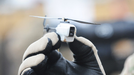 A Black Hornet nano helicopter unmanned aerial vehicle (UAV). © Wikipedia