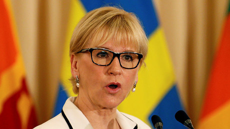 Swedish Foreign Minister Margot Wallstrom. © Dinuka Liyanawatte
