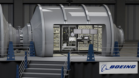 Concept image of Boeing's prototype habitation module. © Boeing