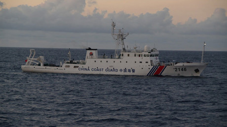 China Coast Guard vessel No. 2146 sails in the East China Sea near the disputed isles known as Senkaku isles in Japan and Diaoyu islands in China © Regional Coast Guard Headquarters-Japan Coast Guard