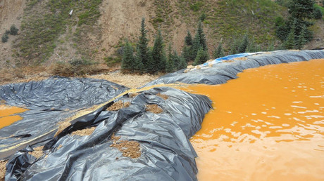 Waste water from the Gold King Mine collects in a holding pool in San Juan County, Colorado, on August 7, 2015. © EPA