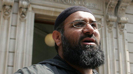 Anjem Choudary, the leader of the dissolved militant group al-Muhajiroun, © Stephen Hird