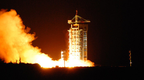 China's quantum satellite - nicknamed Micius after a 5th century BC Chinese scientist - blasts off from the Jiuquan satellite launch centre in China's northwest Gansu province on August 16, 2016. © Stringer