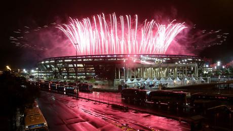 Fireworks explode during the closing ceremony. © Fernando Donasci