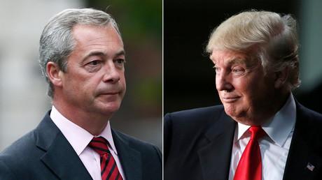 Nigel Farage (L), Donald Trump (R) © Reuters