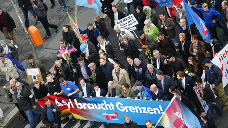 Supporters of the right-wing Alternative for Germany (AfD) © Hannibal Hanschke