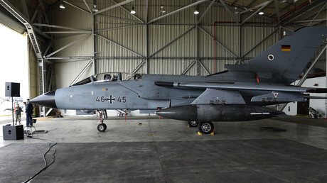 File photo: A German Tornado jet is pictured in a hangar at the air base in Incirlik, Turkey. © Tobias Schwarz