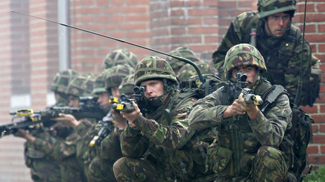 Soldiers from the British Royal Marines Commando © Claus Fisker