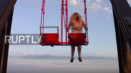 High in Holland: Europe's tallest swing dangles thrill-seekers above Amsterdam (VIDEO)