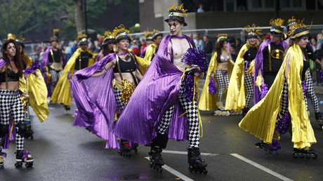 Performers participate in the children's day parade at the Notting Hill Carnival in London, Britain August 28, 2016. © Peter Nicholls