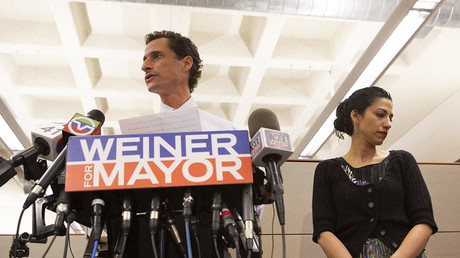 Anthony Weiner and his wife Huma Abedin. © Eric Thayer