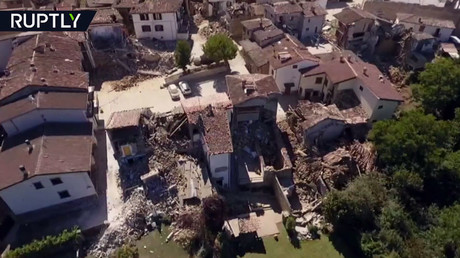 Amatrice drone footage: Aerial shots reveal dramatic devastation in quake-stricken Italian town