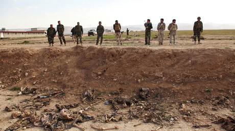 A Yazidi mass grave in Sinjar, in Iraq© Ari Jalal