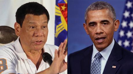 Philippine President Rodrigo Duterte and U.S. President Barack Obama © Lean Daval Jr / Jonathan Ernst
