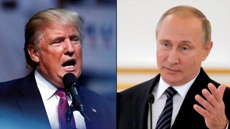 Republican presidential nominee Donald Trump and Russian President Vladimir Putin © Reuters
