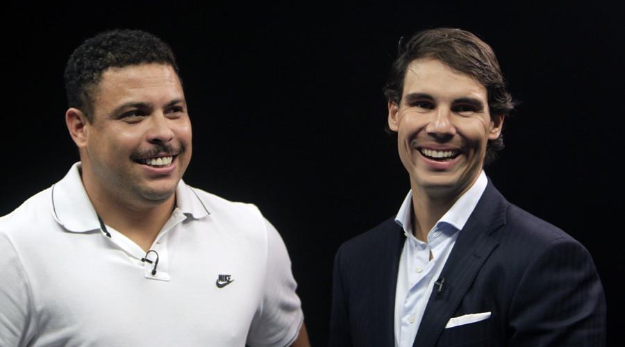 Spanish tennis player Rafael Nadal and former Brazilian soccer player Ronaldo © David W Cerny