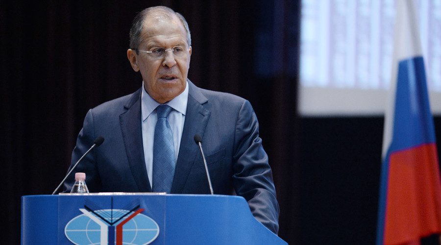Foreign Minister Sergey Lavrov speaks at a meeting with students and faculty of the Moscow Institute of International Relations (MGIMO) to mark the beginning of a new academic year. © 