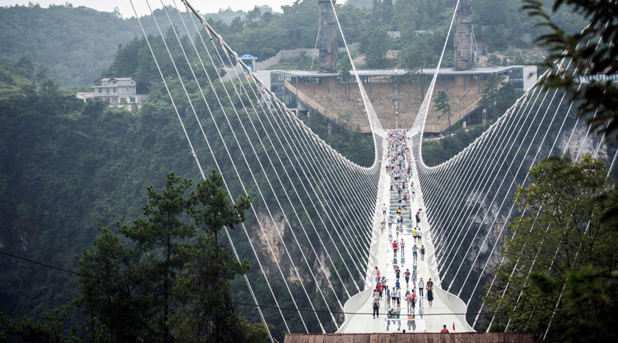 World's highest & longest glass bridge closes indefinitely 2 weeks after grand opening