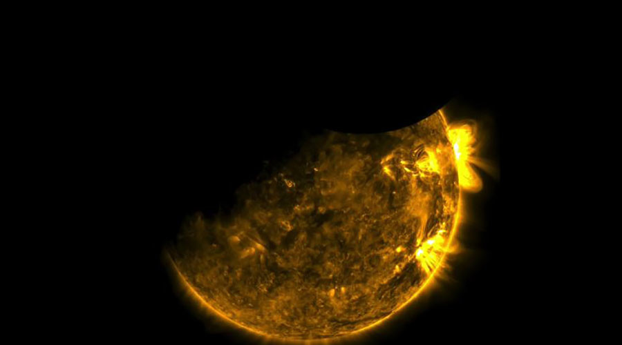 NASA solar observatory captures spectacular double eclipse (VIDEO)