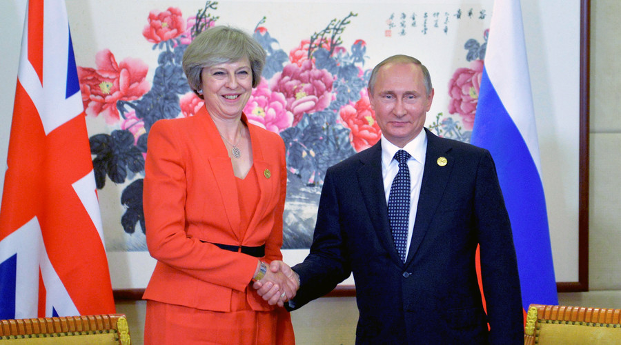 Russian President Vladimir Putin meets with British Prime Minister Theresa May as part of the G20 Summit in Hangzhou, China, September 4, 2016. © Alexei Druzhinin