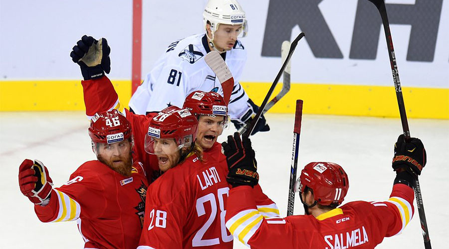 Chinese Red Star scores 6 goals to win in first KHL home game