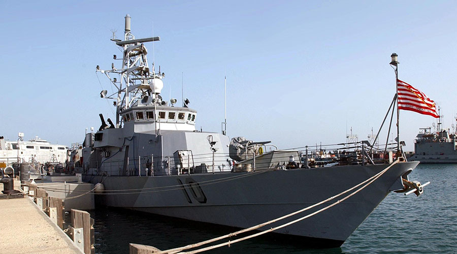 US military ship forced to change course after 'harassment' from Iranian vessel - report