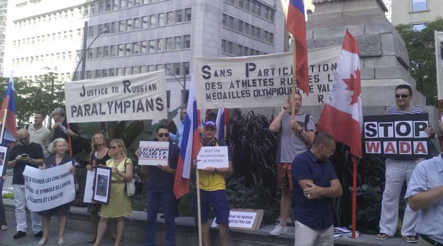 'Pure hypocrisy': Activists in Canada protest Russian Paralympic team ban (PHOTO)