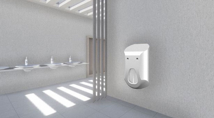 Urinal 2.0 offers lads a hands-free experience which their partners will also appreciate