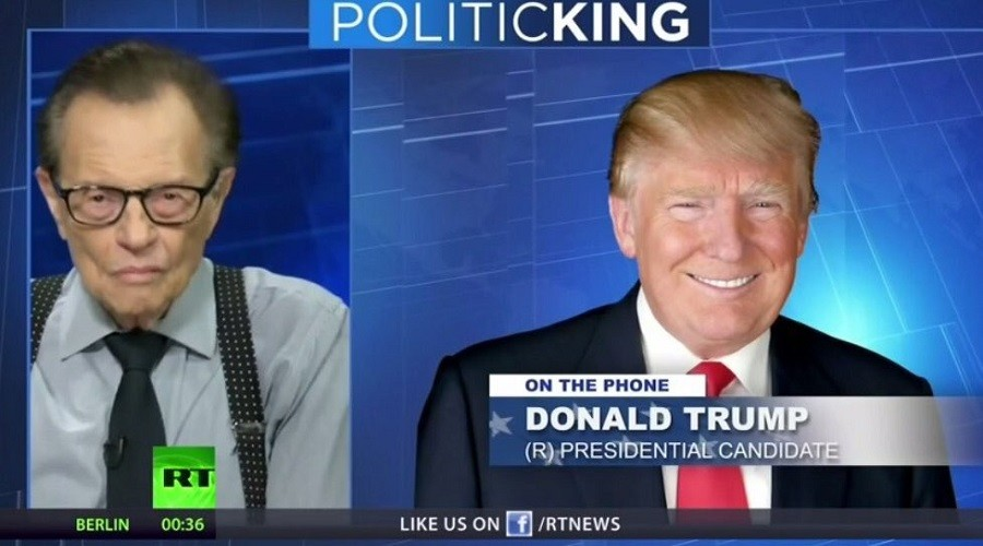 The Russians are coming! Twitter flips over Trump interview with Larry King on RT
