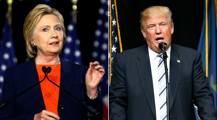 U.S. Democratic presidential candidate Hillary Clinton, Republican presidential candidate Donald Trump © Reuters