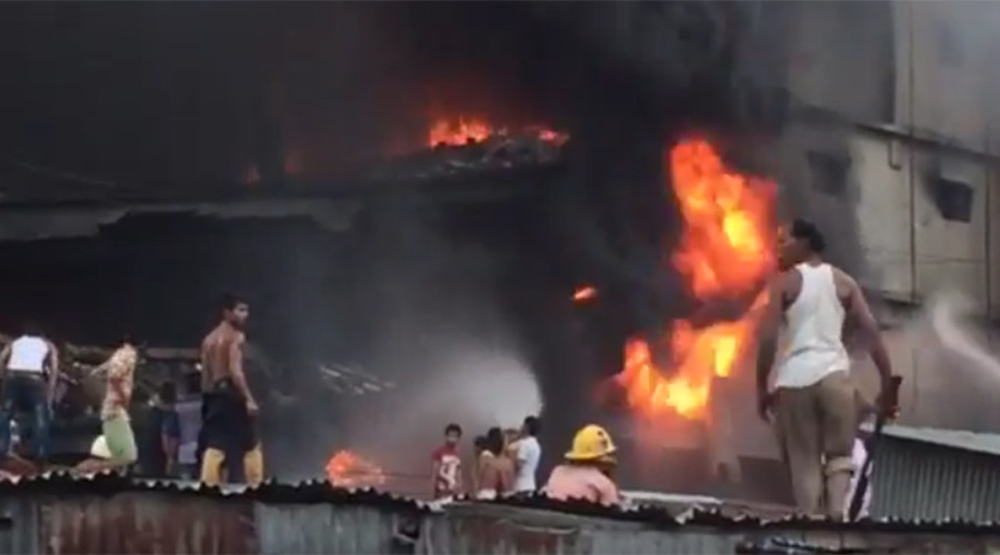 At least 26 killed, 50 injured in huge Bangladesh factory blast & fire (VIDEO)